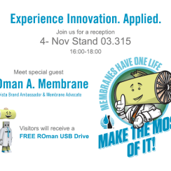 Experience Innovation. Applied. Aquatech Stand Reception