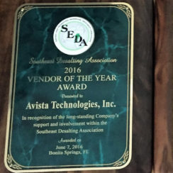 Avista<sup>®</sup> Technologies receives the SEDA Annual Award for Vendor of the Year!